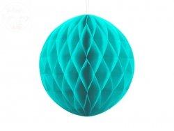 Kula bibułowa turkusowa 30 cm - 1szt
