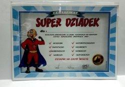 Certyfikat, dyplom dla SUPER DZIADEK SUPER