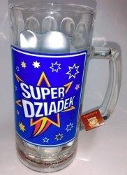 Kufel 0,5 L SUPER DZIADEK - gwiazda