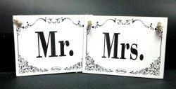 Tabliczki Drewniane  Mrs. / Mr.
