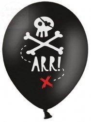 Balony lateksowe czarne  30 cm piraci - 1 szt