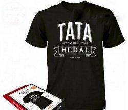 Koszulka Vintage - Tata na Medal  L