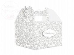 Pudełko weselne ozdobne na ciasto 1szt PUDCSM1
