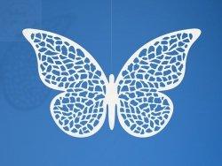 Dekoracja papierowa motyl 6,5 x 4 cm -  10szt
