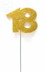 Ozdoba na druciku 18 złota mała 7 x5,5cm