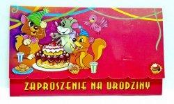 Zaproszenie na urodzinki  Cyferki 2-7