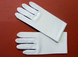 Rękawiczki komunijne dla chłopca z lycry matowej L