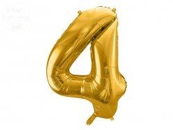 Balon foliowy  86 cm złoty cyfra 4