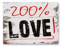 Naklejki na buty ślubne 200% LOVE 2 szt