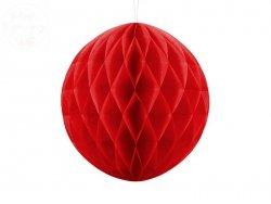 Kula bibułowa czerwona 30 cm - 1szt