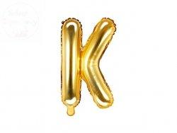 Balon foliowy Litera K 35 cm złoty