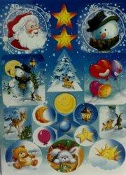 Naklejki Świąteczne 2 arkusze