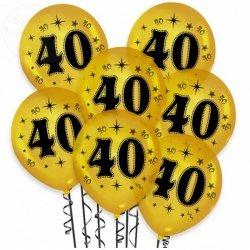 Balony urodzinowe na 40 złote metaliczne 1 szt