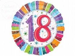Balon foliowy 18cali 18-te urodziny z helem