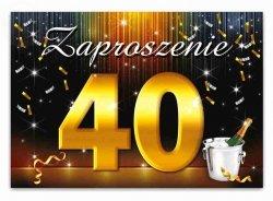 Zaproszenie na 40-te urodziny, urodzinowe 1szt