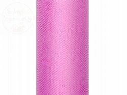 Tiul gładki  w kolorze rózowym 0,3 x 9  m