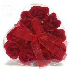 Serduszko z płatkami mydlanymi Mega - czerwone