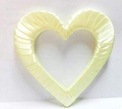 Serce styropianowe duże w kolorze jasno kremowym