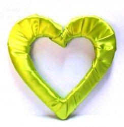 Serce styropianowe duże w kolorze jasno zielonym