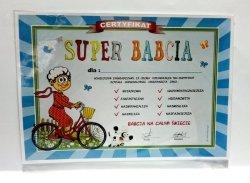 Certyfikat, dyplom dla SUPER BABCI Rower