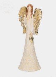 Aniołek dekoracyjny złote skrzydełka