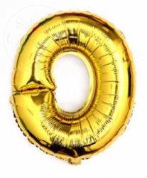 Balon foliowy złoty 40 cm - 0
