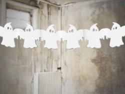 Girlanda bibułowa na Halloween Duszki  1szt