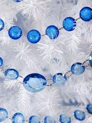 Girlanda kryształowa niebieska  długość 1m