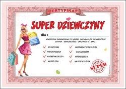 Certyfikat Super Dziewczyny 1szt