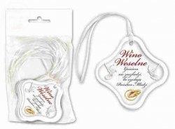 Zawieszki na wino weselne z białą tasiemką 1szt
