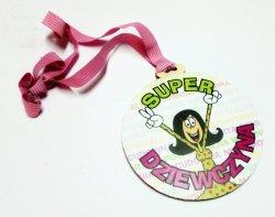 Medal drewno  Super Dziewczyna - 1szt