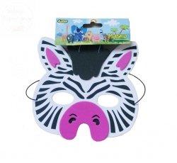 Maseczka z pianki  Zebra z gumką 1szt