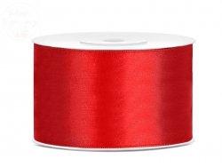 Tasiemka satynowa czerwona 38mm x 25 m