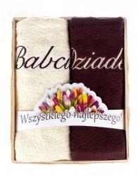 Ręcznik z haftem w koszyczku Babcia i Dziadek
