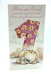 Zaproszenie  Mam już Roczek - 1szt
