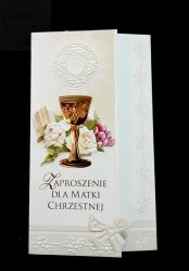 Zaproszenie na I Komunię Świętą dla Matki Chrzestn
