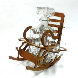 Karafka fotel bujany Karfka + 6 kieliszków