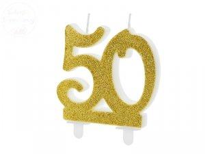 Świeczka urodzinowa do tortu liczba 50