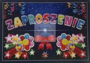Zaproszenie na urodziny 1szt ZX6600
