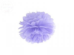 Pompon bibułowy jasno liliowy 25cm 1szt