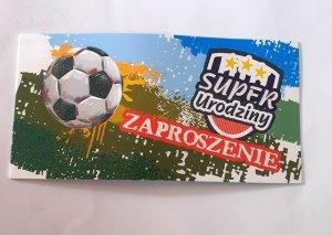 Zaproszenie na Super urodziny Piłka 1szt