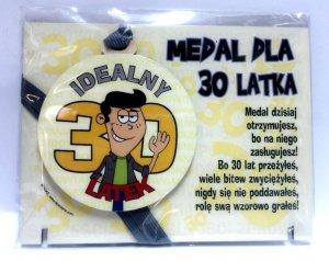 Medal podstawka dla 30-latka