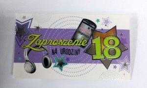 Zaproszenie na 18-ste Urodzniny Telefon