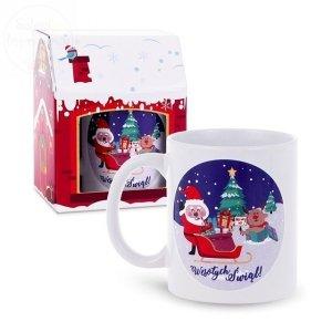 Kubek świąteczny z Mikołajem