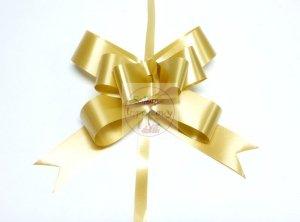 Wstążka ściągana 3cm złota metalik 1szt