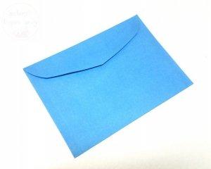 Koperta w kolorze niebieskiem 17,5 x 12,5 cm