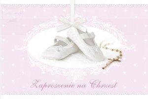 Zaproszenie  na Chrzest różowe - 1 szt