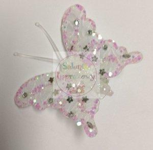 Motylki białe - artykuł dekoracyjny - 1szt