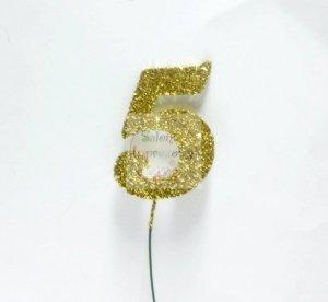 Ozdoba na druciku 5 złota - 1szt