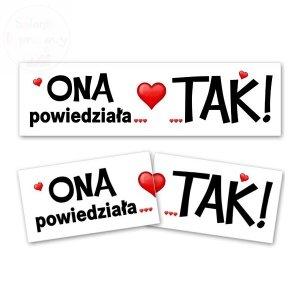 Tabliczki do fotobudek Tak/ONA powiedziała...